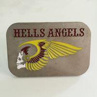Wholesale Hells Angels Skull Biker MC Motorcycle Belt Buckle Yellow