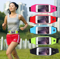 Wholesale High Quality Universal Waterproof Sports Running Waist Pocket Belt Case Bag Cover For iPhone Plus S S Samsung Galaxy S7 edge S6 Note