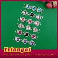 Cheap Buckles acrylic rhinestone connector Best 7-10 working days Used to bikini swimsuit decoration connector for headband