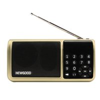 Wholesale Mini Bluetooth Fm Radio Portable Digital Micro Sd Radios Speaker Radio receiver Aux TF USB Mp3 Player Speakers Flash drive FlashLight