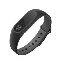Wholesale Smart Wristbands U k Original xiaomi Mi band Wristband Bracelet OLED For APPLE Android Black