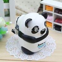 La mini mini panda linda divertida Hand-cremalló el regalo del gran niño del sacapuntas de lápiz