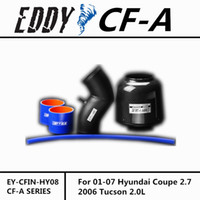 Wholesale Fit For Hyundai Coupe Tucson L Fine Quality Racing Brand EDDYSTAR EDDY Carbon Fiber Cold Air Intake System Air Filter