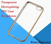 TPU bag thickness - For iphone plus plus Colorful TPU Electroplating Case Backcover thickness Case Soft Silicone Case Opp Bag