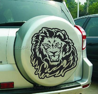 animal door pulls - Lion head car stickers spare wheel Lion car door animal Lionhead sticker pull flowers Locomotive Personalized decals