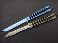 Wholesale New Butterfly balisong folding knives outdoor survival tactical knife cr18 blade pocket BM knife hand tool