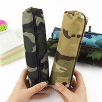 Wholesale Hot Sale Boys and Girls Camouflage Pencil Case Canvas Pencil Bag School Supplies Stationery Box