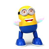 Wholesale DESPICABLE ME Electric walking dancer Miniins singing and lighting educational children s toys