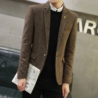 Wholesale The men s wool suit special offer thick section youth business casual suit jacket British slim coat