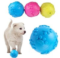 Wholesale 3 Color Teeth Bite Rubber Dog Cat Play Ball Products Interactive Toys