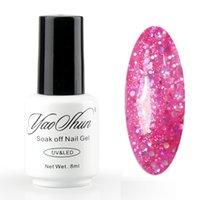 Wholesale YAOSHUN Top Selling Pink gel nail polish Soak Off LED uv Gel Varnish DIY Long Lasting Polish Glitter Decoration ml piece