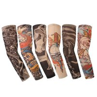 Wholesale 6Pcs Riding UV care Nylon Stretchy Arm Stockings Outdoor Fishing Sports Fake Temporary Sleeves lt no tracking