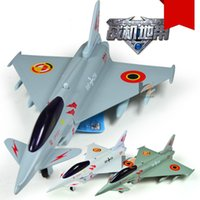 Wholesale European fighter aircraft model EF2000 alloy with acousto optic force can be mixed batch