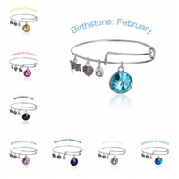 beaded wire jewelry - Alex and Ani Months crystal Birthstone Charm bracelets Wiring expandable bangles band cuffs women statement jewelry