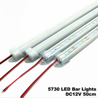 Wholesale 5pcs LED Bar Lights DC12V LED Hard Rigid Strip cm LED Tube with U Aluminium Shell PC Cover Warm White White