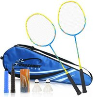 Wholesale Cheap Authentic Pack Badminton Racket Carbon Men And Women Send Bag Badminton Hand Glue Direct Customization