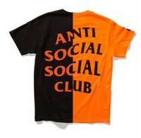 Wholesale anti social social club t shirt men Skull Mastermind Skeleton print t shirt cotton streetwear ASSC shirts men womens hip hop tee