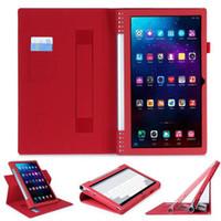 Wholesale Levono YOGA Tab plus Tablet Flip Cover with Card Slot Hand Strape for Lenovo YOGA Tab pro X90F Table F Opp Bag
