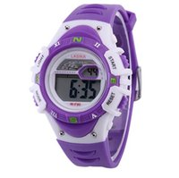 Unisex alarms sell - Hot Sell LCD Waterproof Wristwatches for Children With M Resistant Digital Light Date Alarm Candy Color Fashion Watches for Women Men Gift