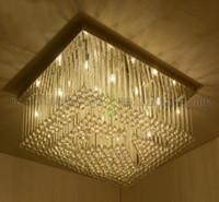 aluminum rectangular - NEW Rectangular LED K9 Crystal Ceiling Lamp Dining Room Ceiling Lights Modern Creative Art Deco Lighting G4 Lights MYY
