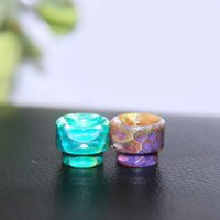 battle tanks - High quality newest connection honeycomb resin drip tips short wide bore mouthpiece for AV Battle Rda Kennedy atomizer Goon tank