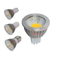 Wholesale CREE Led lights Bulbs Dimmable GU10 MR16 E14 GU5 E27 W W COB Led Spotlights led downlight lamp V V