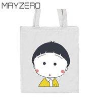 baggu canvas - Canvas Bag Environmental Printed Reusable Recycle Shopping Bag Casual Shoulder Non Woven Eco Bags Totes Shopping Bag Women Baggu