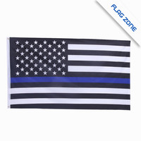 Wholesale 10 TYPES BlueLine usa Police Flags By Foot Thin Blue Line USA Flag Black White And Blue American Flag Texas California Flag