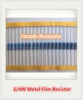 Venta al por mayor - ohmios libres 0.25W el 1% ROHS del resistor 330K de la película de metal del envío 100pcs 330K 1 / 4W