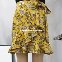 Mode vacances d\u0027été irrégulière jupe courte robes de vacances femme sexy  boho floral imprimé bohème plage vacances enveloppe jupes 2017 nouveau