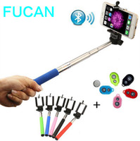 android phone holder - Fashion Extendable Selfie Stick Handheld Monopod Clip Holder Bluetooth Shutter Remote Controller Battery for iPhone Android Phone