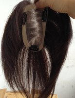 Wholesale New clips Remy Hair Piece Cover Scar Full Hand Tied with Pu Edge X11CM Mono Lace Closure Women Men s Humains Cabelo Toupee