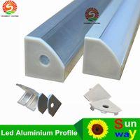 anodized aluminum shapes - 40m a m per piece Anodized aluminum profile for led strip light triangle shape