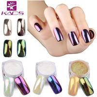 Vente en gros-KADS 1g / pot miroir clou d'ongles Art Poudre ongles Conseils beauté ongles en poudre bricolage pigments Chrome Brillant pour les ongles brillant Shining
