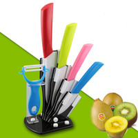 Wholesale Mother s Day Ceramic Knife Set Chef s Kitchen Knives Zirconia Fruit Knives Set quot quot quot quot inch With Holder Peeler Acrylic Stand