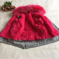 Wholesale Girls jackets and coats new arrival fashion Thick Warm Fur hooded Parka Down baby clothes children s clothes clothing