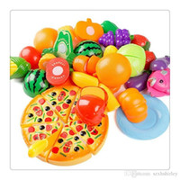 Wholesale 2017 Hot Plastic Fruit Vegetable Kitchen Cutting Toy Cutting Early Development Education Toy For Baby Kids Children Toys