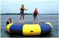 big bounce trampolines - 3M Diameter Inflatable Water Trampoline Bounce Swim Platform Lake Toy