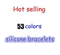 bead wristband - Mix Colors with size S M L XL Silicone wristband Silicone bead Bracelet with tag Free DHL