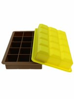 Wholesale Newly Ice Cream Refrigerator Tool Ice Cube Tray Pudding Jelly Maker Mold Cavity Square Silicone Mould Pudding Mould Tool Fashion