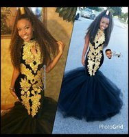 Reference Images amazing art images - 2k17 Amazing Black Prom Dresses For Women Gold Appliques Keyhole Trumpet mermaid Floor Length Tulle Dubia Arabic Latest Evening Gowns Hot