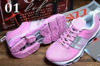 Vender el nuevo color EQT calza tamaño de los zapatos de salto púrpura negro rosado de los zapatos corrientes del aire de la alta calidad de las mujeres: 5.5-8.5 Envío libre