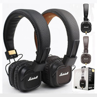Wholesale Marshall Major II Headphones Headset Remote Mic nd New Generation pk MARSHALL MONITOR SE215 AAA quality