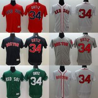 anti drop - MLB Boston Red Sox jerseys FlexBase baseball Jerseys ORTIZ PRICE PEDROIA navy red grey white drop freeshipping