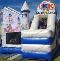 cavaliers gonflables achat en gros de-Girls Party Princess Inflatable Combo Jumpers 6L x 4.5W x 5.5H Meter for Rent and Resale