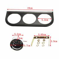 Wholesale 52mm Triple Kit Oil Temp Water Temp Temperature Oil Pressure Sensor Vehicle Car Meter Auto Gauge AUP_305