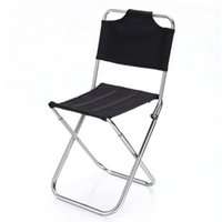 aluminum stackable chairs - Portable Outdoor Fishing Folding Chairs Garden Picnic Camping Black Aluminum Home Furniture Stackable