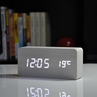best end tables - Best High end clocks Thermometer Alarm clock LED Digital Voice Table Clock colors Digital Clock Battery USB power