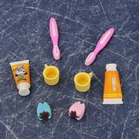 Wholesale Set Kawaii Lovely Toothpaste Eraser Teeth Eraser Removable Rubber Stationery Kid Gift