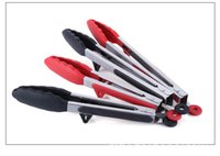 barbecue tongs - 2pc Set Silicone Food Tong Kitchen Cooking Barbecue Catering Clip Different Size for Home Restaurant Kitchen